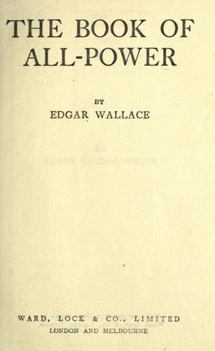 The book of all power by Edgar Wallace