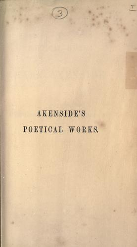 Poetical works of Mark Akenside by Mark Akenside