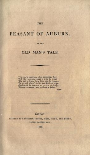 The Peasant of Auburn by
