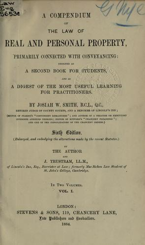 A compendium of the law of real and personal property