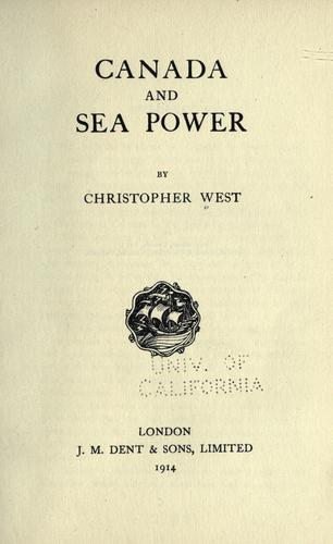 Canada and sea power by Christopher West