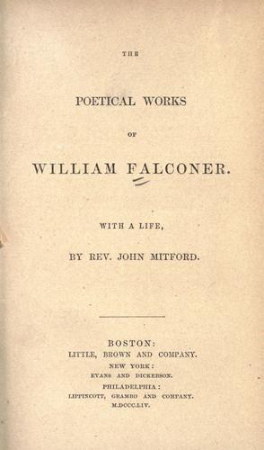The poetical works of William Falconer by