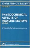 Physiochemical Aspects of Medicine Reviews by Yu.m. Lopukhin