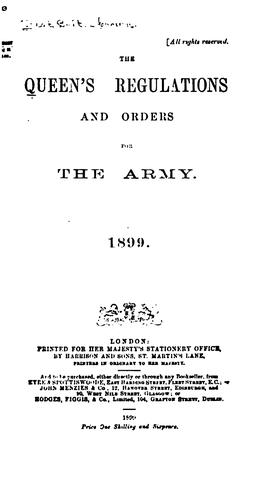 The Queen's Regulations and Orders for the Army by