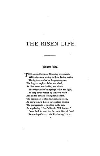 The risen life, hymns and poems for the Christian year, Easter to Advent by
